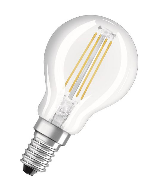 osram e14 led birne retrofit filament 4w 430lm warmweiss spar. Black Bedroom Furniture Sets. Home Design Ideas